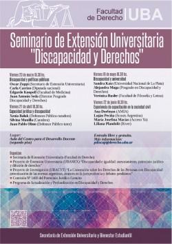 """Seminario de extensión universitaria """"Discapacidad y derechos"""""""