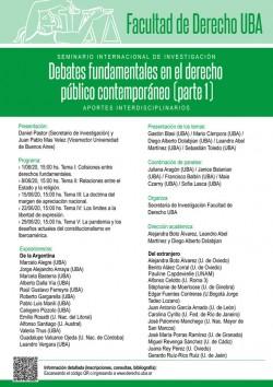 """Seminario de investigación: """"Debates fundamentales en el derecho público contemporáneo"""" (Parte I). Aportes interdisciplinarios"""