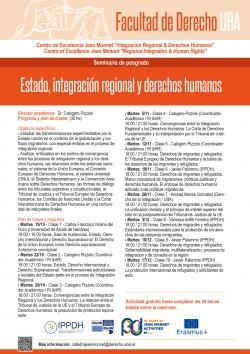 """Seminario de posgrado """"Estado, integración regional y derechos humanos"""""""