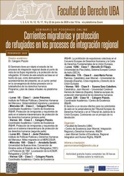 Seminario de posgrado online - Corrientes migratorias y protección de refugiados en los procesos de integración regional