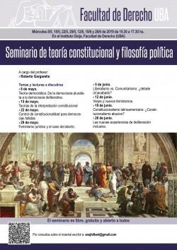 Seminario de teoría constitucional y filosofía política