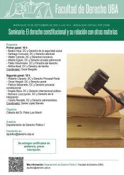 Seminario: El derecho constitucional y su relación con otras materias