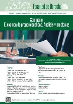 Seminario - El examen de proporcionalidad. Análisis y problemas