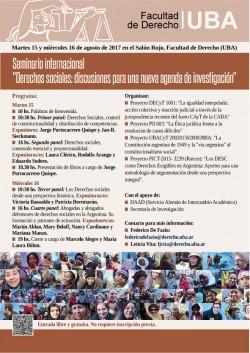 """Seminario Internacional """"Derechos sociales: discusiones para una nueva agenda de investigación"""""""