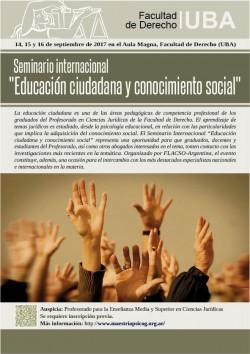 """Seminario internacional """"Educación ciudadana y conocimiento social"""""""
