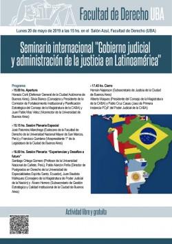 """Seminario internacional """"Gobierno judicial y administración de la justicia en Latinoamérica"""""""
