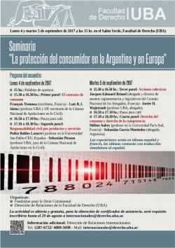 """Seminario """"La protección del consumidor en la Argentina y en Europa"""""""