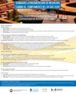"""Seminario latinoamericano de mediación """"Camino al cumplimiento de los ODS 2030"""": Mediación con perspectiva de género"""