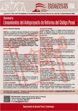 Seminario: Lineamientos del Anteproyecto de Reforma del Código Penal