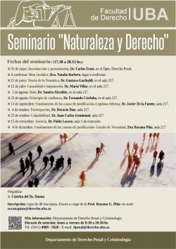 """Seminario """"Naturaleza y Derecho"""""""