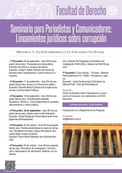 Seminario para Periodistas y Comunicadores: Lineamientos jurídicos sobre corrupción