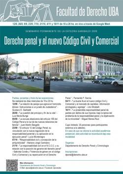 Seminario permanente de la cátedra Garibaldi, edición 2020 - Derecho penal y el nuevo Código Civil y Comercial