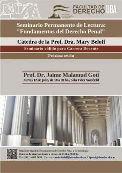 """Seminario Permanente de Lectura """"Fundamentos del Derecho Penal"""""""