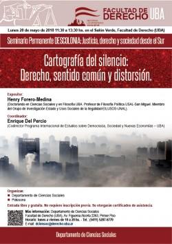 Seminario Permanente DESCOLONIA:  Cartografías del silencio: Derecho, sentido común y distorsión