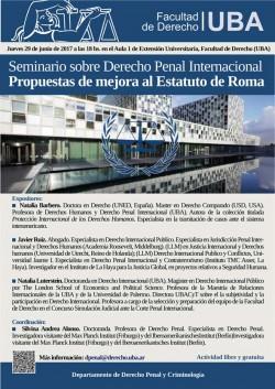 Seminario sobre Derecho Penal Internacional. Propuestas de mejora al Estatuto de Roma
