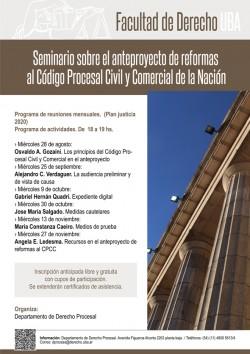Seminario sobre el anteproyecto de reformas al Código Procesal Civil y Comercial de la Nación