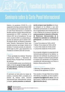 Seminario sobre la Corte Penal Internacional