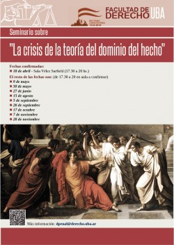 """Seminario sobre """"La crisis de la teoría del dominio del hecho"""""""