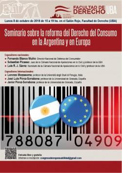Seminario sobre la reforma del Derecho del Consumo en la Argentina y en Europa