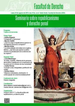 Seminario sobre republicanismo y derecho penal