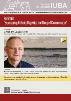 "Seminario ""Superseding Historical Injustice and Changed Circumstances"""