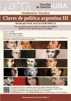 """Seminario Técnico """"Claves de Política Argentina III"""""""