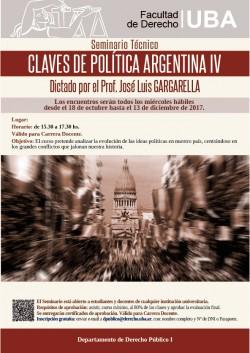 Seminario Técnico. Claves de política argentina IV