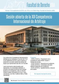 Sesión abierta de la XII Competencia Internacional de Arbitraje