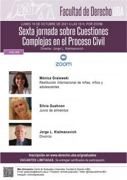Sexta jornada sobre cuestiones complejas en el proceso civil