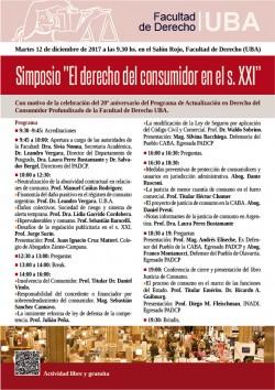"""Simposio """"El derecho del consumidor en el s. XXI"""""""