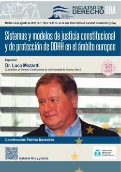 Sistemas y modelos de justicia constitucional y de protección de DDHH en el ámbito europeo