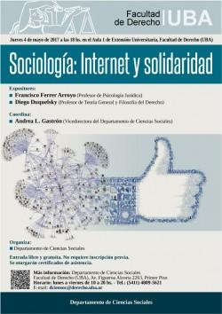 Sociología: Internet y solidaridad