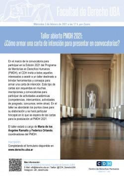 Taller abierto PMDH 2021: ¿Cómo armar una carta de intención para  presentar en convocatorias?