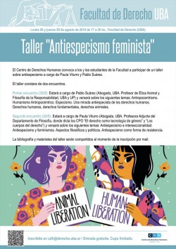 "Taller ""Antiespecismo feminista"""