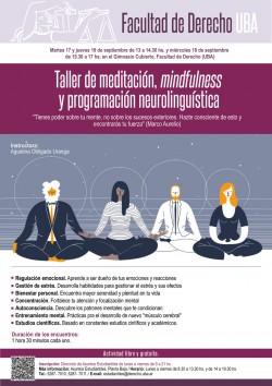 Taller de meditación, <i>mindfulness</i> y programación neurolinguística