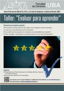 "Taller: ""Evaluar para aprender"""