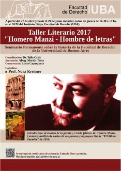 """Taller Literario 2017 - """"Homero Manzi - Hombre de letras"""""""