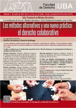 """Taller: """"Los métodos alternativos y una nueva práctica: el derecho colaborativo"""""""