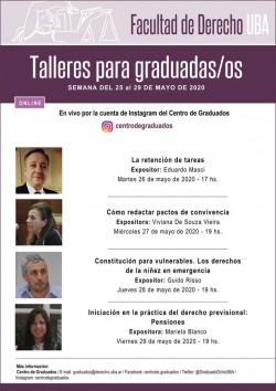 """Taller online """"Constitución para vulnerables. Los derechos de la niñez en emergencia"""""""