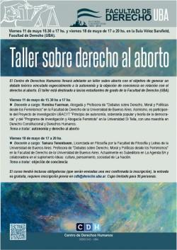 Taller sobre derecho al aborto