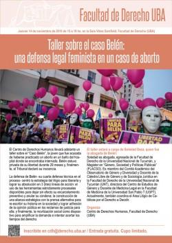 Taller sobre el caso Belén: una defensa legal feminista en un caso de aborto