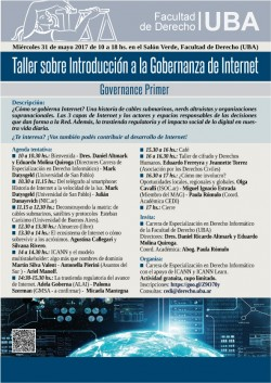 Taller sobre Introducción a la Gobernanza de Internet