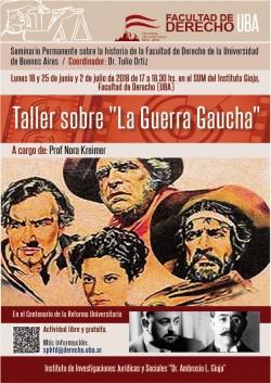 """Taller sobre """"La Guerra Gaucha"""""""