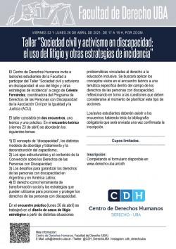 """Taller """"Sociedad civil y activismo en discapacidad: el uso del  litigio y otras estrategias de incidencia"""""""