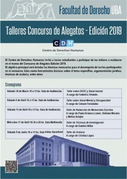 Talleres Concurso de Alegatos - Edición 2019