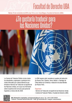 ¿Te gustaría traducir para las Naciones Unidas?