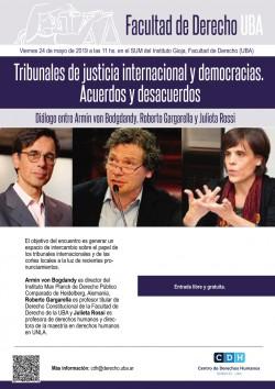 Tribunales de justicia internacional y democracias. Acuerdos y desacuerdos. Diálogo entre Armin von Bodgdandy, Roberto Gargarella y Julieta Rossi