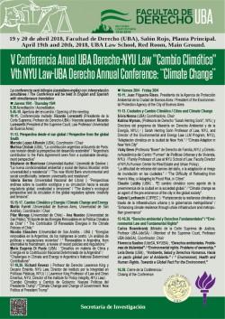 """V Conferencia Anual NYU Law-UBA Derecho: """"Cambio Climático"""""""