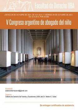 V Congreso argentino de abogado del niño