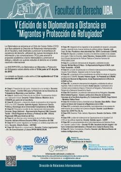 """V Edición de la Diplomatura a Distancia en """"Migrantes y Protección de Refugiados"""""""